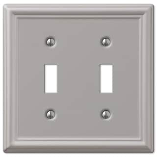 Amertac 149TTBN 2 Toggle Brushed Nickel Wallplate