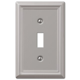 Amertac 149TBN 1 Toggle Brushed Nickel Steel Wallplate