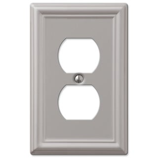 Amertac 149DBN 1 Duplex Brushed Nickel Steel Wallplate