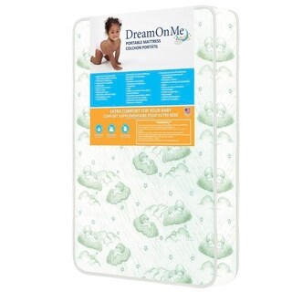 Dream On Me 3-inch Square Corner Playard Mattress
