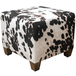 Skyline Furniture Domino Animal Print Fabric Ottoman