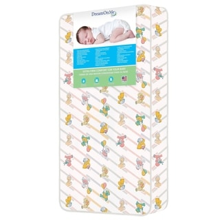 Dream On Me Vinyl/Foam 5-inch Quilted Bear Print Standard Mattress Crib and Toddler Bed