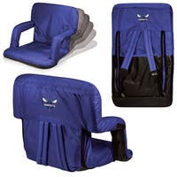 Charlotte Hornets Picnic Time Ventura Seat Navy Polyester and Metal Portable Recliner Chair