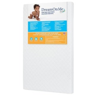 Dream On Me Vinyl Extra Firm Antimicrobial Hypoallergenic Portable Crib Mattress