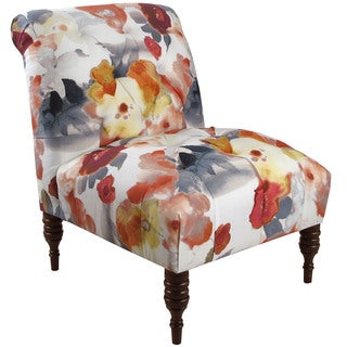 Skyline Furniture Espresso/Paradiso Silver Shadow Polyester/Polyurethane/Pine Tufted Chair
