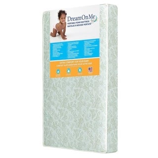 Dream On Me 5-inch Foam Double-sided Portable Crib Mattress