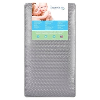 "Dream On Me Superior Slumber 6""112 Coil Spring Crib and Toddler Bed Mattress"