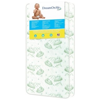 Dream On Me Nirvana Vinyl 6-inch 96 Coil Spring Crib and Toddler Bed Mattress