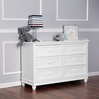Mia Moda Parkland White Finish Wood Double Dresser