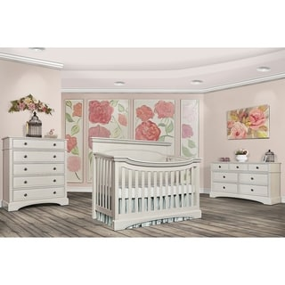 Catalina Flat Top Collection White Wood Convertible Crib