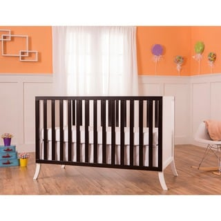 Dream on Me Madrid Black Wood 5-in-1 Convertible Crib