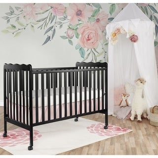 Dream On Me Classic Black Wood 2-in-1 Convertible Crib