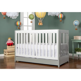 Dream On Me Milano Grey Wood 5-in-1 Convertible Crib
