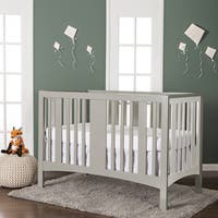 Dream On Me Havana White and Grey 5-in-1 Convertible Crib