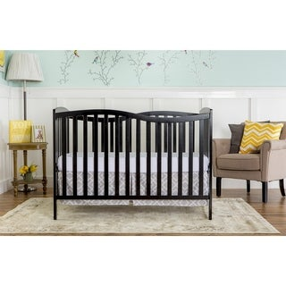 Dream on Me Chelsea Black Wood 5-in-1 Convertible Crib