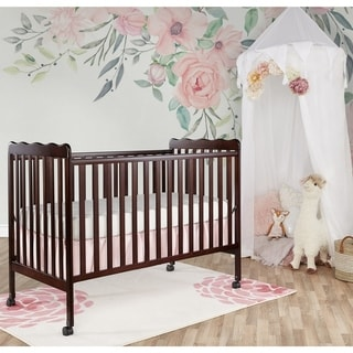 Dream on Me Espresso Wood 2-in-1 Convertible Crib