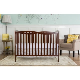 Dream on Me Chelsea Espresso Wood 5-in-1 Convertible Crib