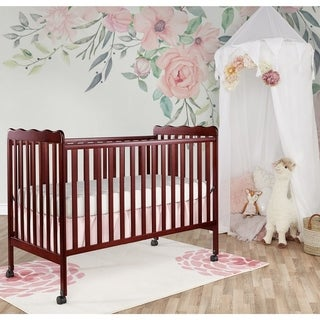 Dream on Me Classic Cherry-finished Wood 2-in-1 Convertible Crib - Brown