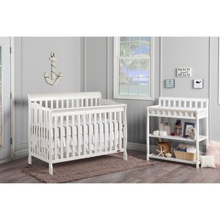 Dream On Me Ashton White 5-in-1 Convertible Crib
