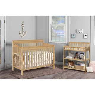 Dream On Me Ashton Natural Wood 5-in-1 Convertible Crib