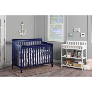 Dream On Me Blue Wooden 5-in-1 Ashton Convertible Crib