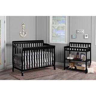 Dream On Me Ashton Black Wood 5-in 1 Convertible Crib