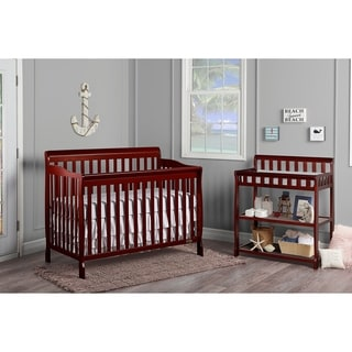 Dream On Me Ashton Cherry 5-in-1 Convertible Crib