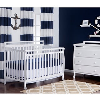 Liberty White Wood 5-in-1 Convertible Crib