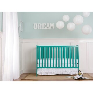 Dream On Me Synergy Green Wood 5-in-1 Convertible Crib