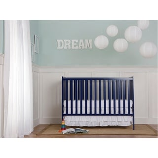 Dream On Me Synergy Blue Wood 5-in-1 Convertible Crib