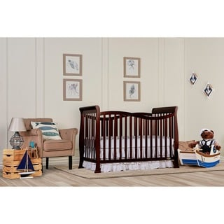 Dream On Me Violet Espresso Wood 7-in-1 Convertible Crib