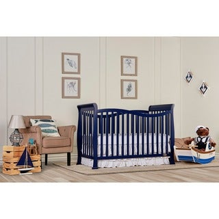 Dream On Me Violet Royal Blue 7-in-1 Convertible Lifestyle Crib
