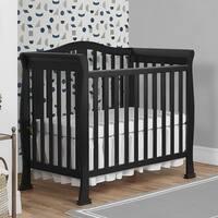 Dream On Me Naples Black Wood Mini Crib