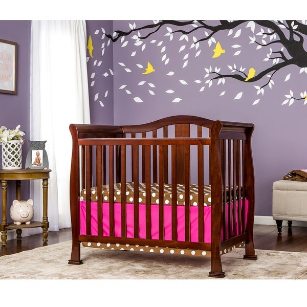 Shop Dream On Me Naples Espresso Wood Mini Crib Free