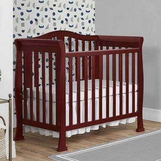 Dream On Me Naples Mini Crib - Brown
