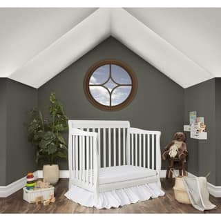 Dream On Me Aden Convertible 4-in-1 Mini Crib - White