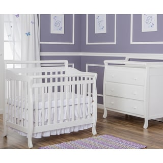 Dream On Me White Wood 4-in-1 Mini Convertible Crib