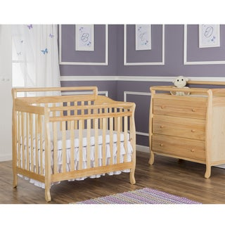 Dream On Me Natural Wood 4-in-1 Mini Convertible Crib