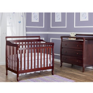Dream on Me Cherry-finish Wood 4-in-1 Mini Convertible Crib