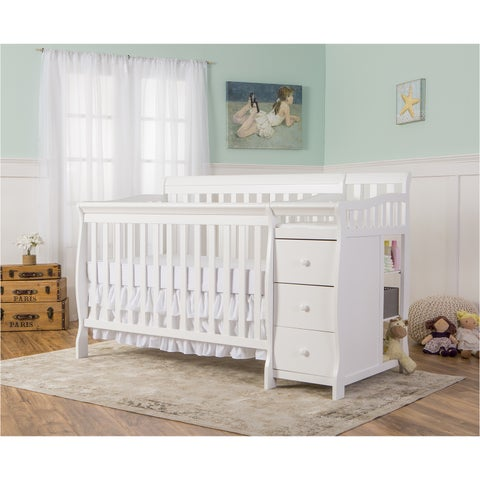 Dream On Me 5-in-1 Brody White Convertible Crib with Changer