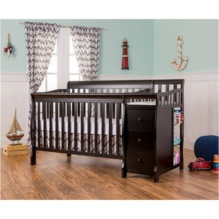 Dream On Me 5-in-1 Brody Black Convertible Crib with Changer