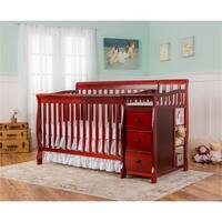 Dream On Me 5-in-1 Brody Cherry Convertible Crib with Changer