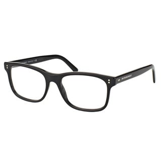Burberry Unisex BE 2196 3001 Shiny Black Plastic 55-millimeter Rectangle Eyeglasses
