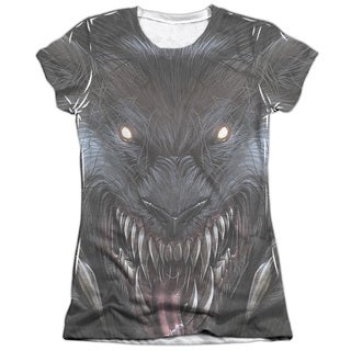 Zenescope/Werewolf (Front/Back Print) Short Sleeve Junior 65/35 Poly/Cotton Crew in White