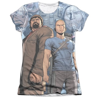 Archer & Armstrong/Heroes & Villains Short Sleeve Junior Poly/Cotton Crew in White