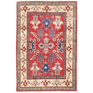 Herat Oriental Afghan Hand-knotted Kazak Wool Rug (3'4 x 5'1)