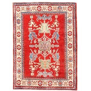 Handmade Kazak Wool Rug (Afghanistan) - 2'9 x 3'9