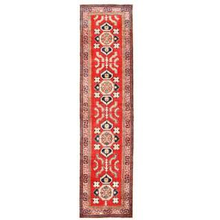 Herat Oriental Afghan Hand-knotted Kazak Wool Runner (2'7 x 11'4)