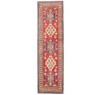 Herat Oriental Afghan Hand-knotted Kazak Wool Runner (2'8 x 9'6)