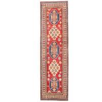 Handmade Herat Oriental Afghan Kazak Wool Runner  - 2'8 x 9'6 (Afghanistan)